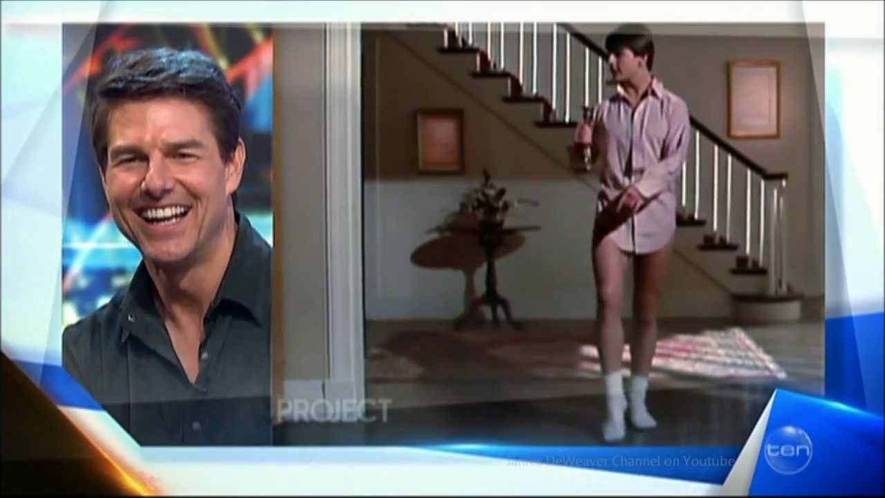 "Tom Cruise LIVE explains the ""Risky Business"" Dancing ..."