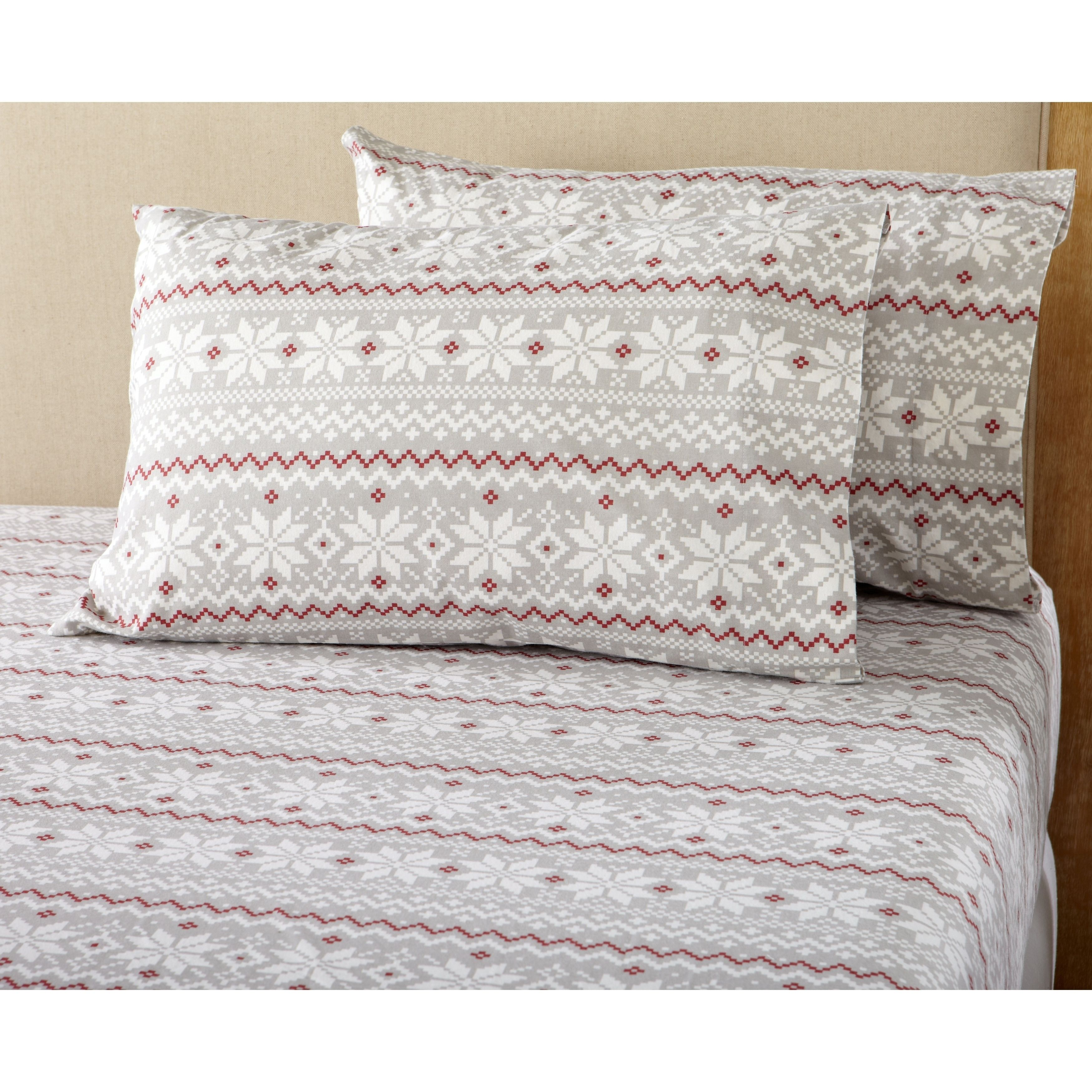 Red flannel sheets  Stratton Collection Super Soft Printed  Cotton Flannel Sheet Set