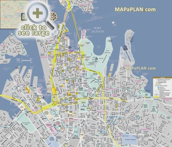 Street Map Australia.Sydney Maps Top Tourist Attractions Free Printable City Street