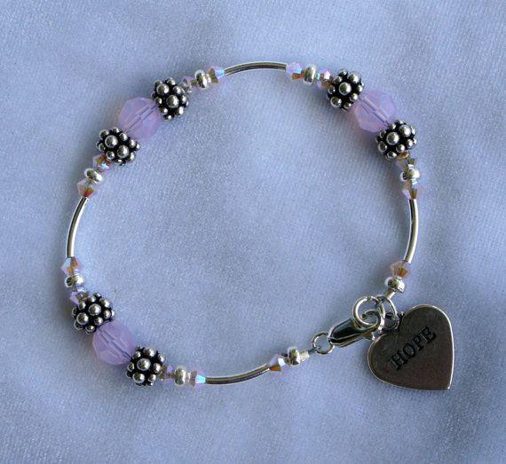 Wahine Hope Silver Crystal Bracelet.