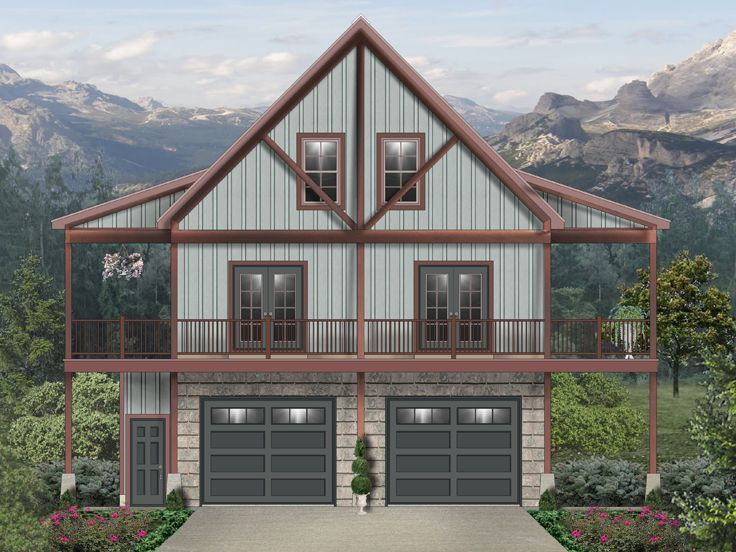 006g 0172 Carriage House Plan With Wrap Around Porch
