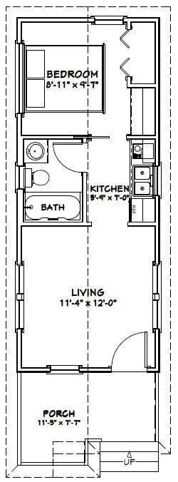 12x30 Tiny House 12x30h1a 358 Sq Ft Excellent Floor Plans Tiny House Floor Plans Tiny House Plans 1 Bedroom House