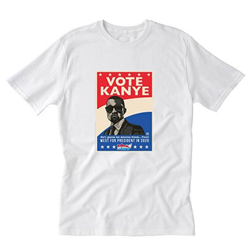 Kanye West 2020 For President Poster T Shirt Pu27 In 2020 T Shirt Shirts Kanye West
