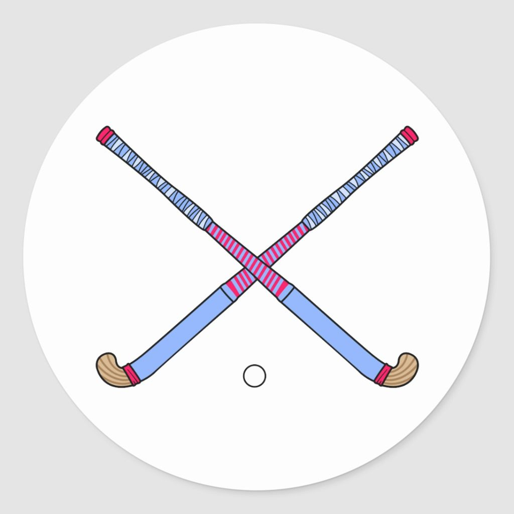 Field Hockey Sticks Classic Round Sticker Zazzle Com In 2020 Field Hockey Hockey Stick Field Hockey Sticks