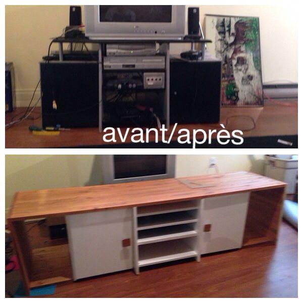 Meuble de tv transformer makeover diy meuble diy Transformer meuble tv
