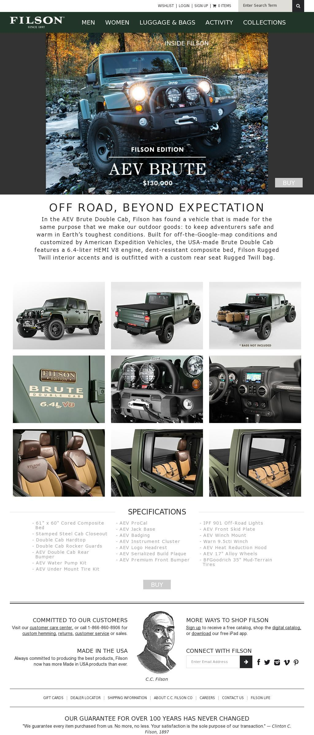Jeep The Filson Aev Brute Boom Jeep Cars Jeep Brute Willys Jeep