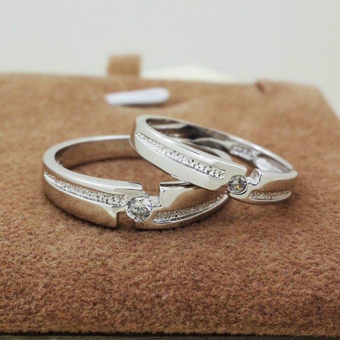 Beautiful Cut Style Engagement Silver Rings with Names Silver ring