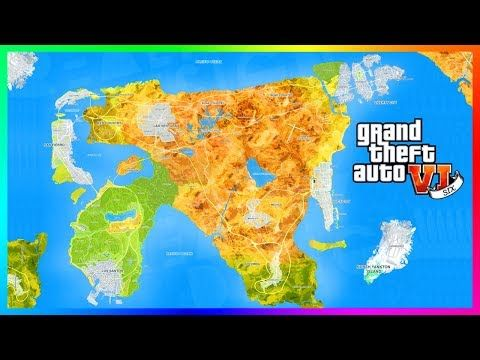 Gta 6 World Map.Awesome Gta 6 S Map Size Will Be The Biggest Rockstar Games Has Ever