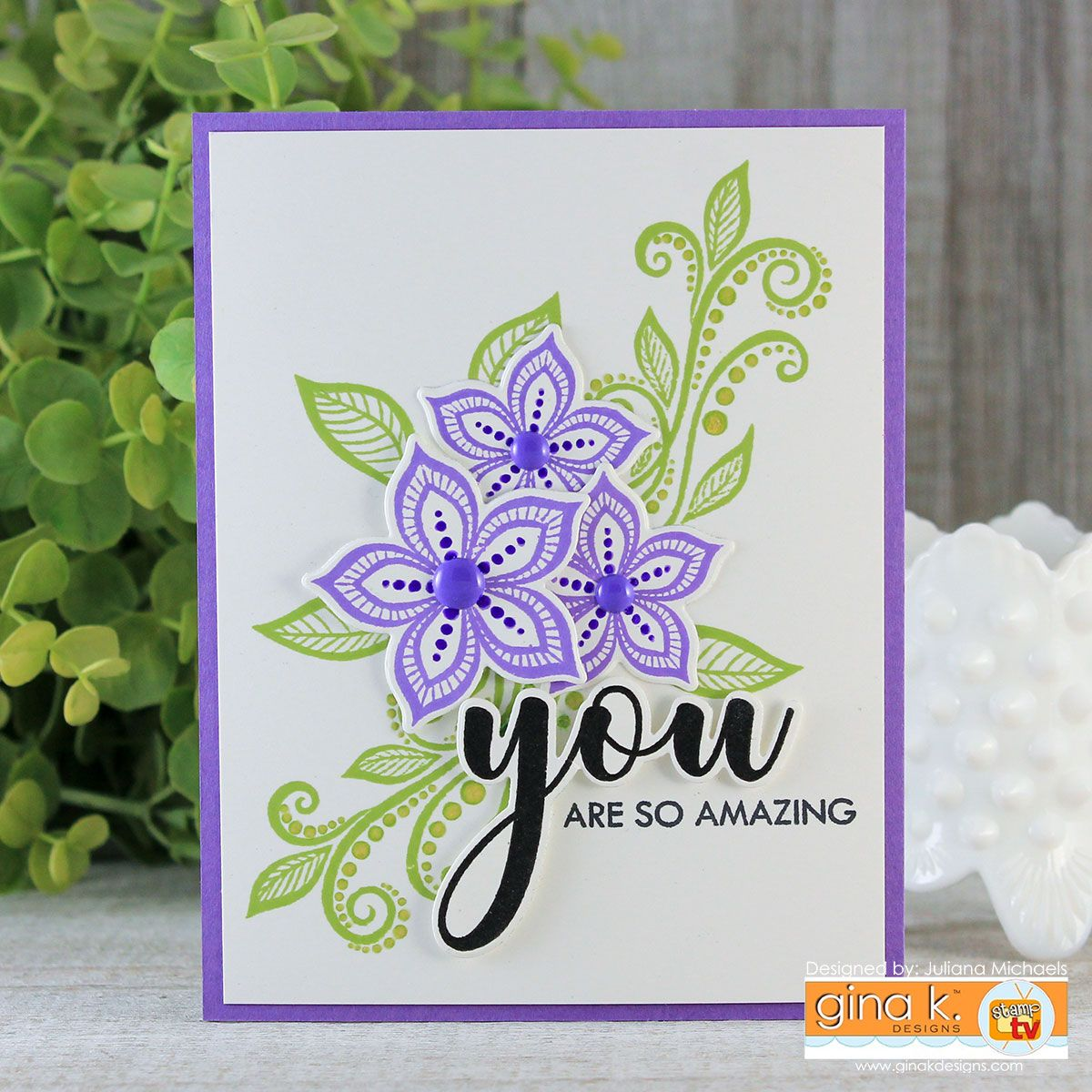 You Are Amazing Card By Juliana Michaels Card Design And Layering