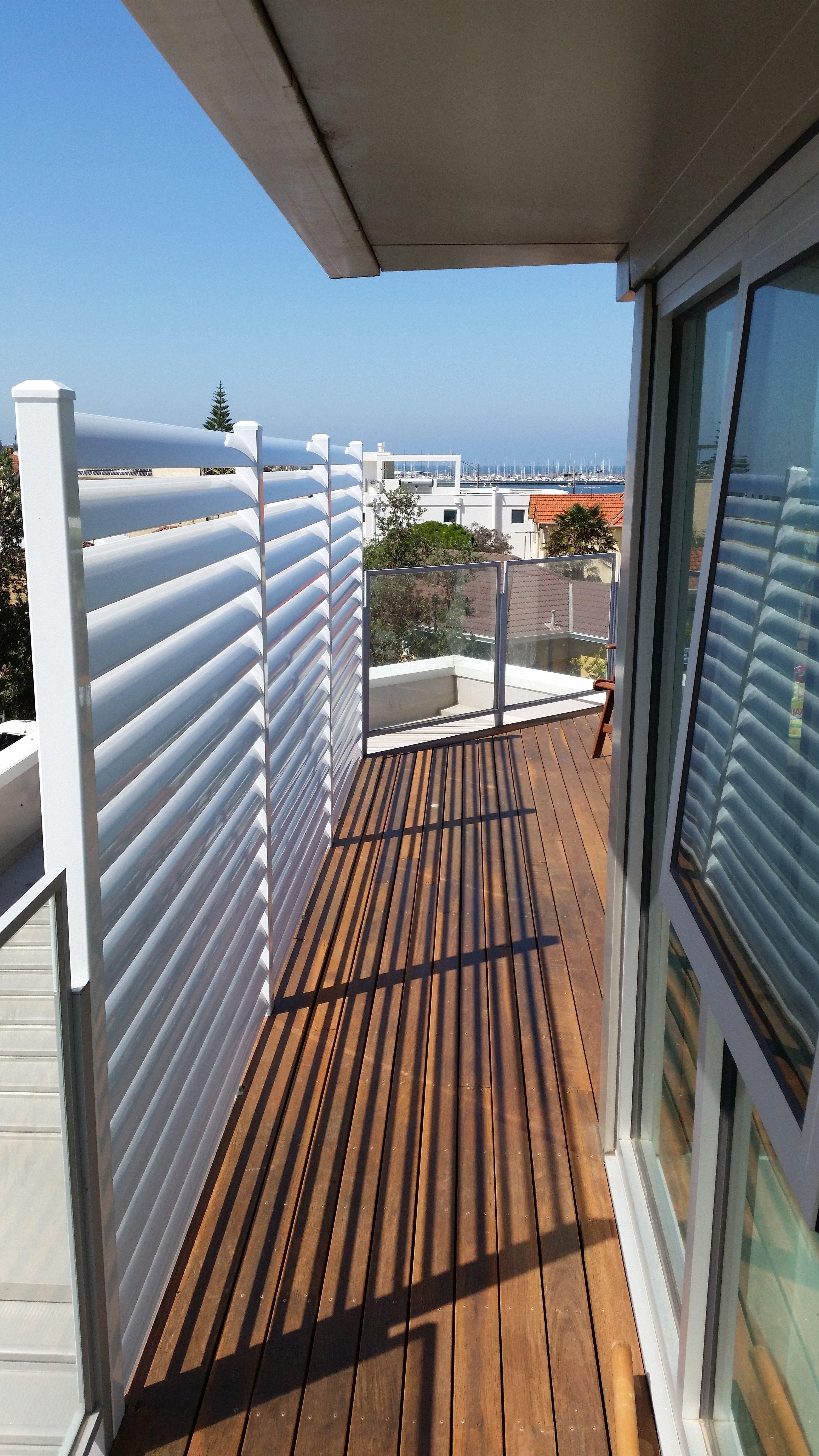Fixed Louver Blade Balcony Privacy Screens Deck Carport