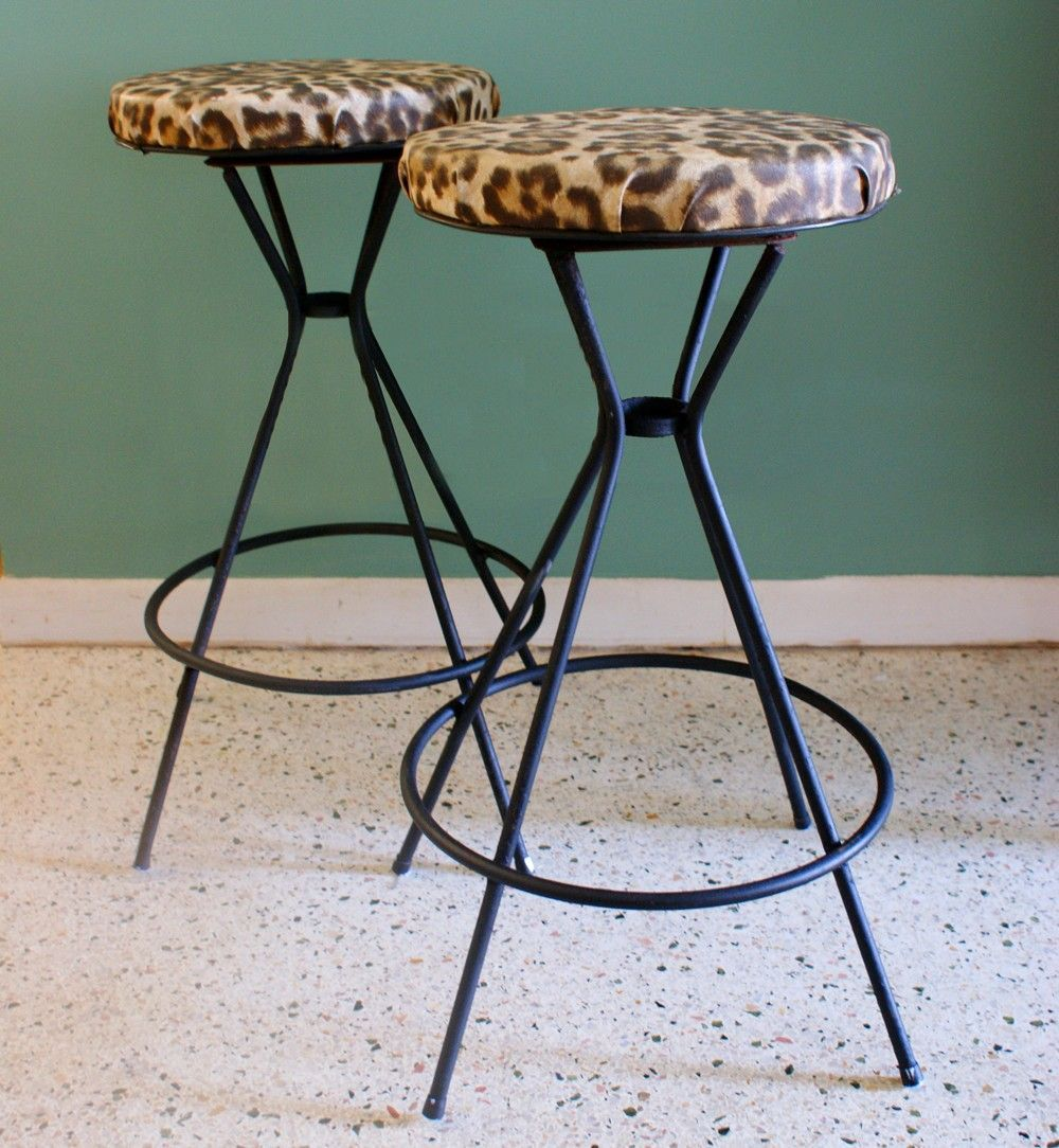 Leopard Bar Stools Basementbardesigns Rockabilly Home Decor