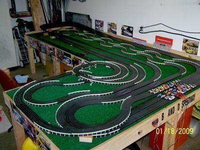 Pin Slot Car Racing Ho Track Layouts Toys Pinterest