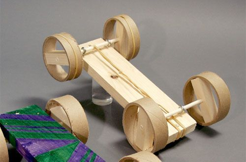 How To Make A Toy Car Using A Rubber Band Motor