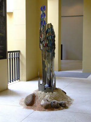 """ARTE EM VIDRO-GLASS ART de Rosa Groisman: Esculturas em Vitraux da Série """"Aquariana"""" de Rosa Groisman"""