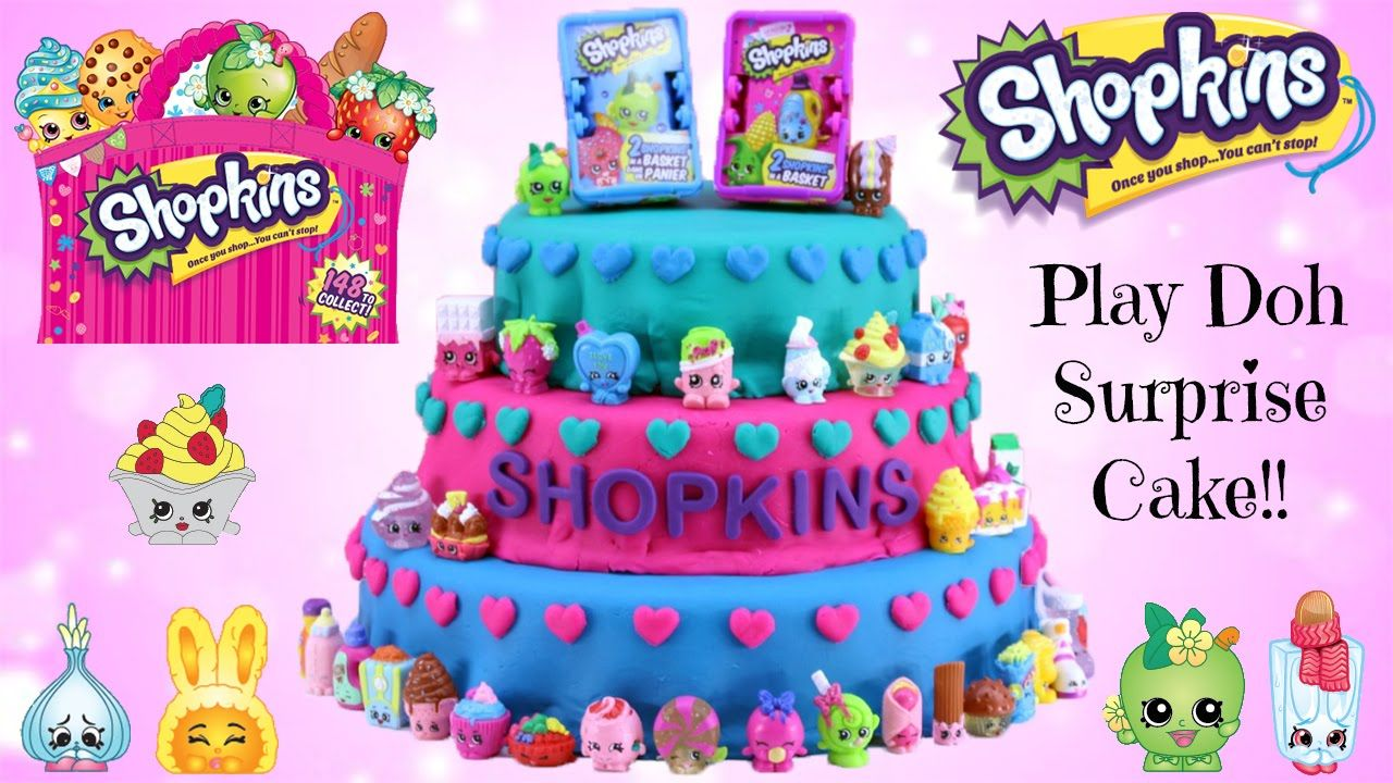HUGE Shopkins Play Doh Cake