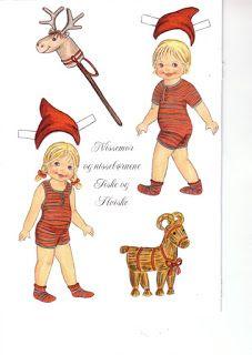 Bonecas de Papel: Aumentando a família Noel...   Christmas Printable Paper Dolls
