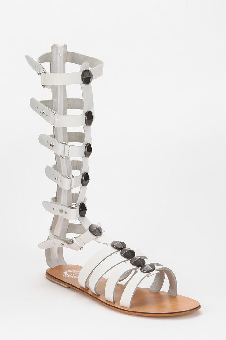 Ecote Tall Cone-Stud Caged Sandal  #UrbanOutfitters