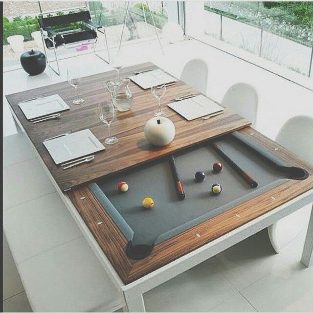 Dining Room Table Pool Table Around The House Pinterest Pool - Pool table conference room table