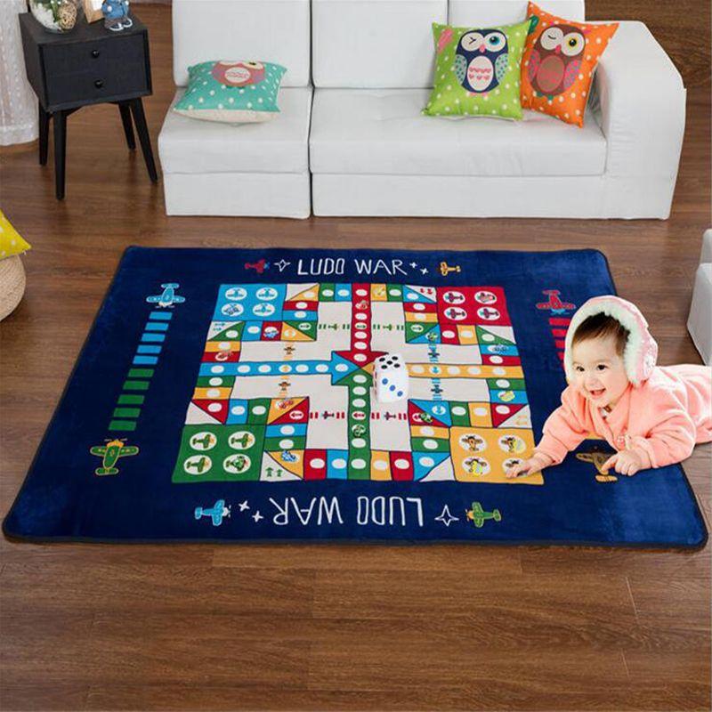 Anti Slip 145* 195cm Large Floor Living Room Carpets Modern Flight Chess Game  Rug