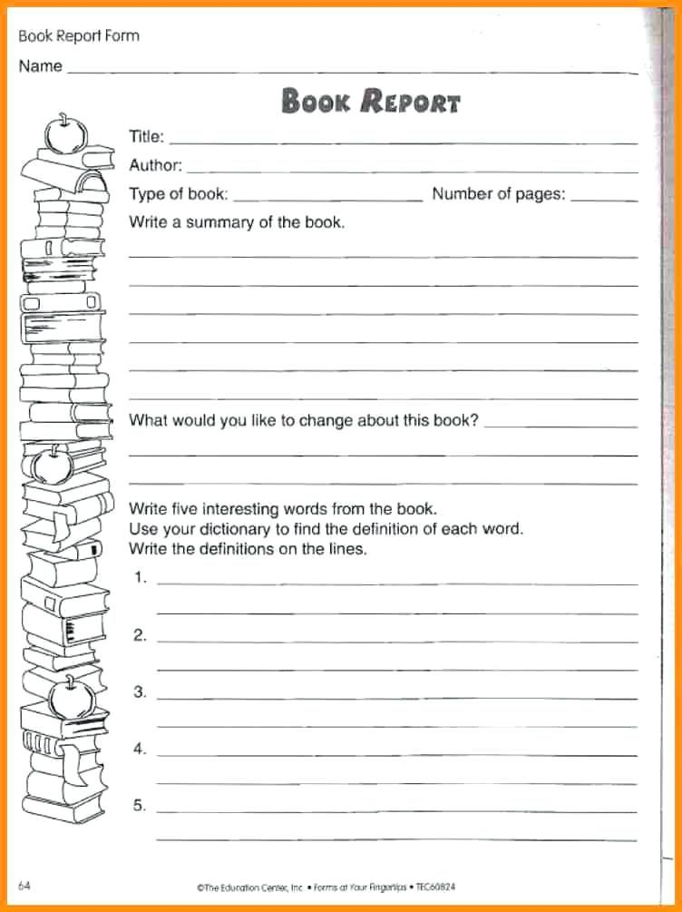 4th grade book report template grade book report template 4 fourth - Summary Report Template