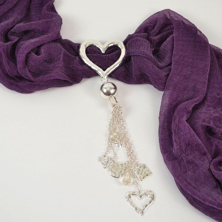 Silver Outline with Drops Scarf Jewelry - $12.90 #ilovepurpleboxjewelry