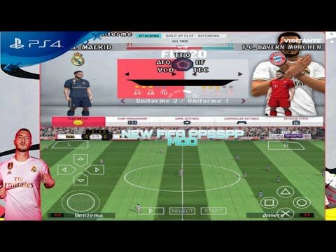 NEW!!! PES 2020 MOD FIFA 20 PPSSPP Android Offline 600Mb
