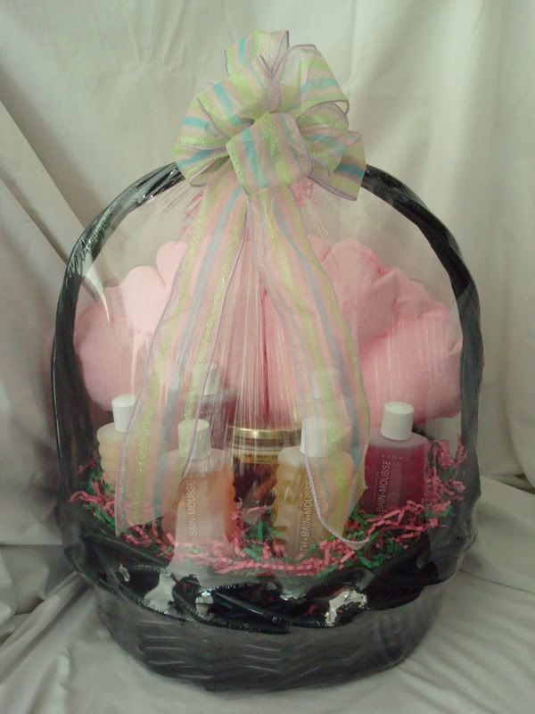 Avon bath relaxation gift basket includes 6 8 oz bottles of bubble avon bath relaxation gift basket includes 6 8 oz bottles of bubble bath candle bath pillow bath pouf back view 1 of 2 negle Image collections