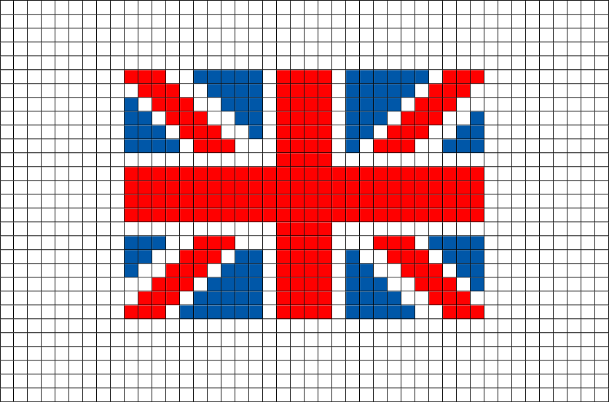 Flag Of United Kingdom Great Britain Pixel Art Dessin Quadrille Dessin Pixel Pixel Art