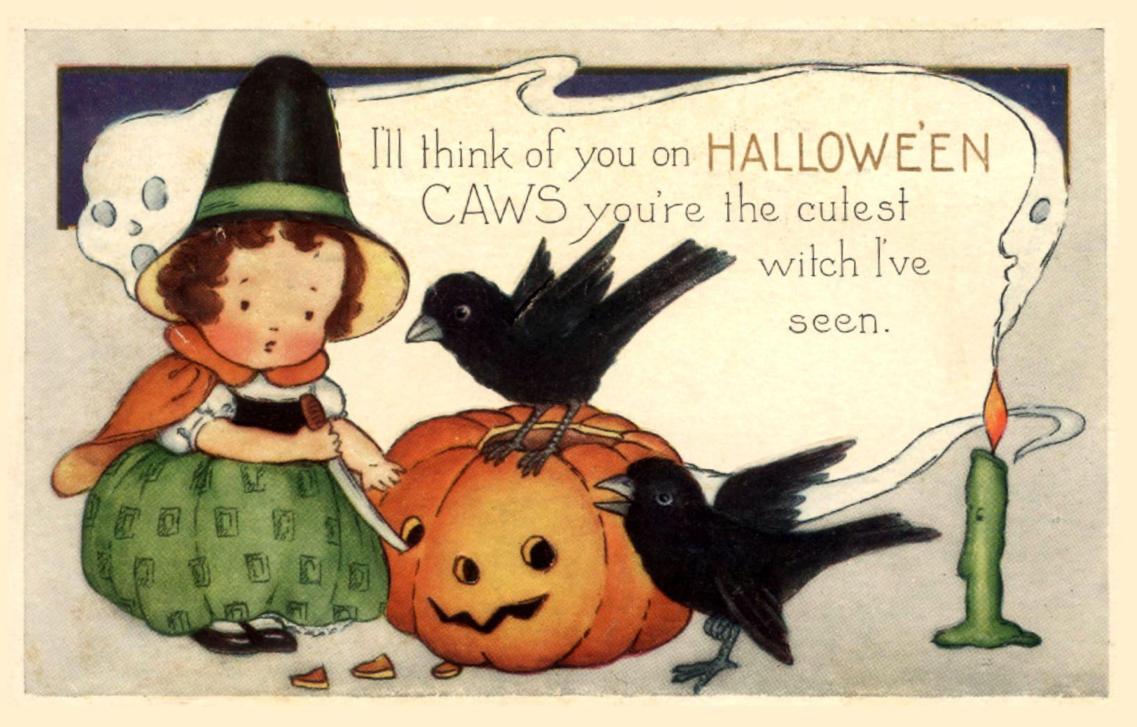 Since the candy has been in the stores for at least a month now, I guess it's time to start with Halloween crafts and decor. I thought this little vintage postcard was cute & I hope you find a fun way to use it this season. Please share your ideas! To download this free image, …
