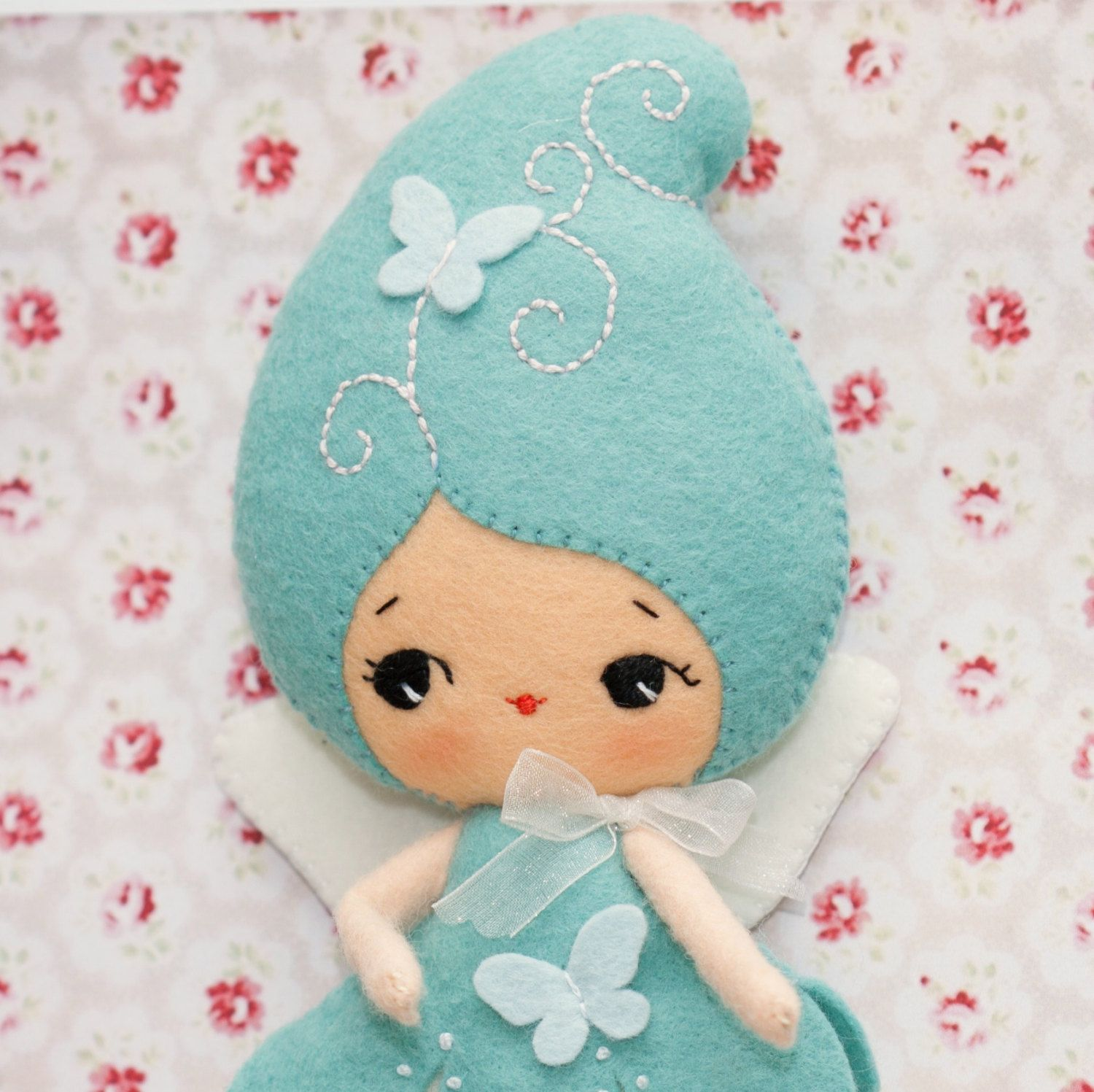 PDF. Blue fairy doll. Plush Doll Pattern, Softie Pattern, Soft felt ...