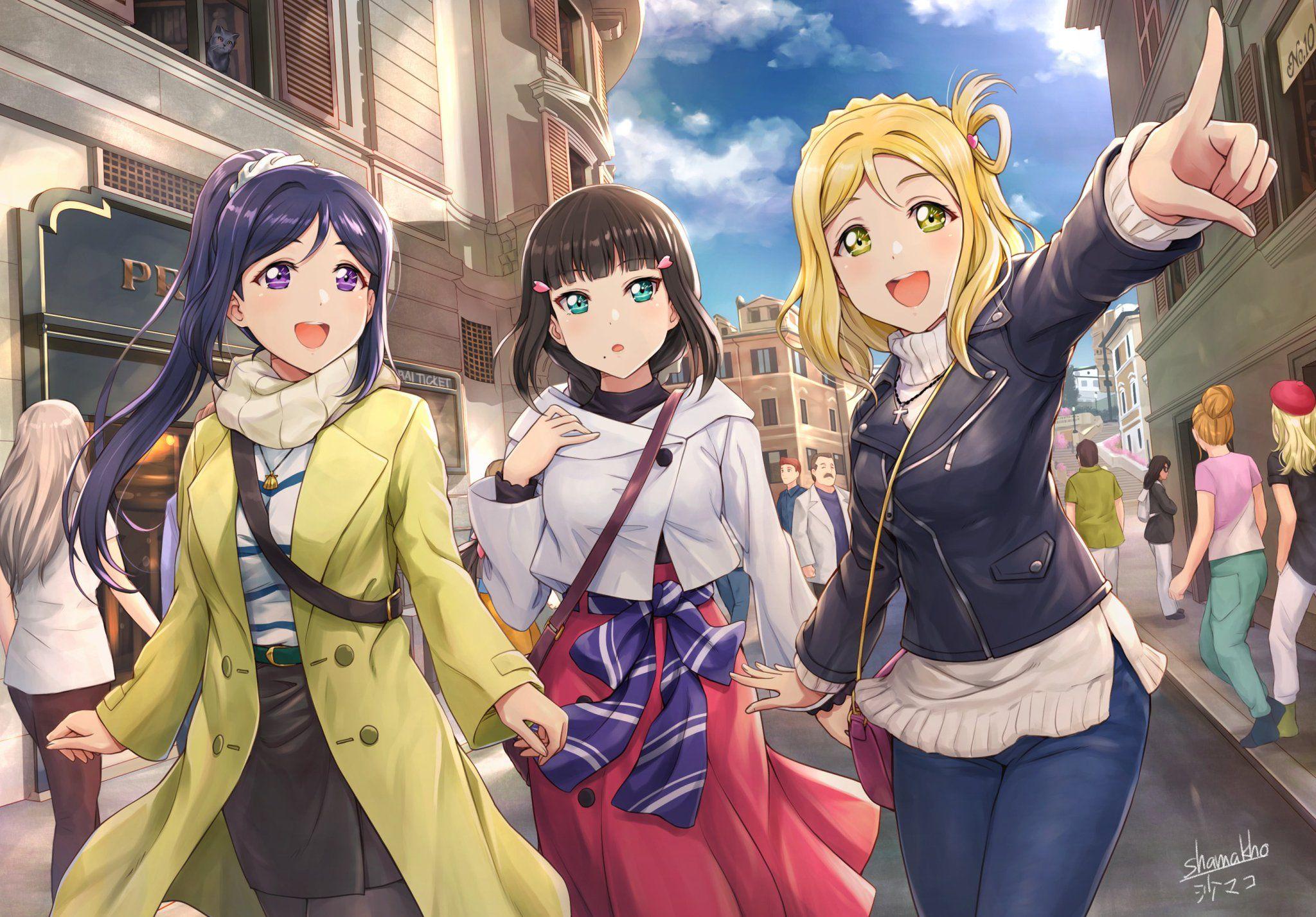 Matsuura Kanan Anime Cosplay Wig +Track NO +CAP Sunshine! Love Live LoveLive