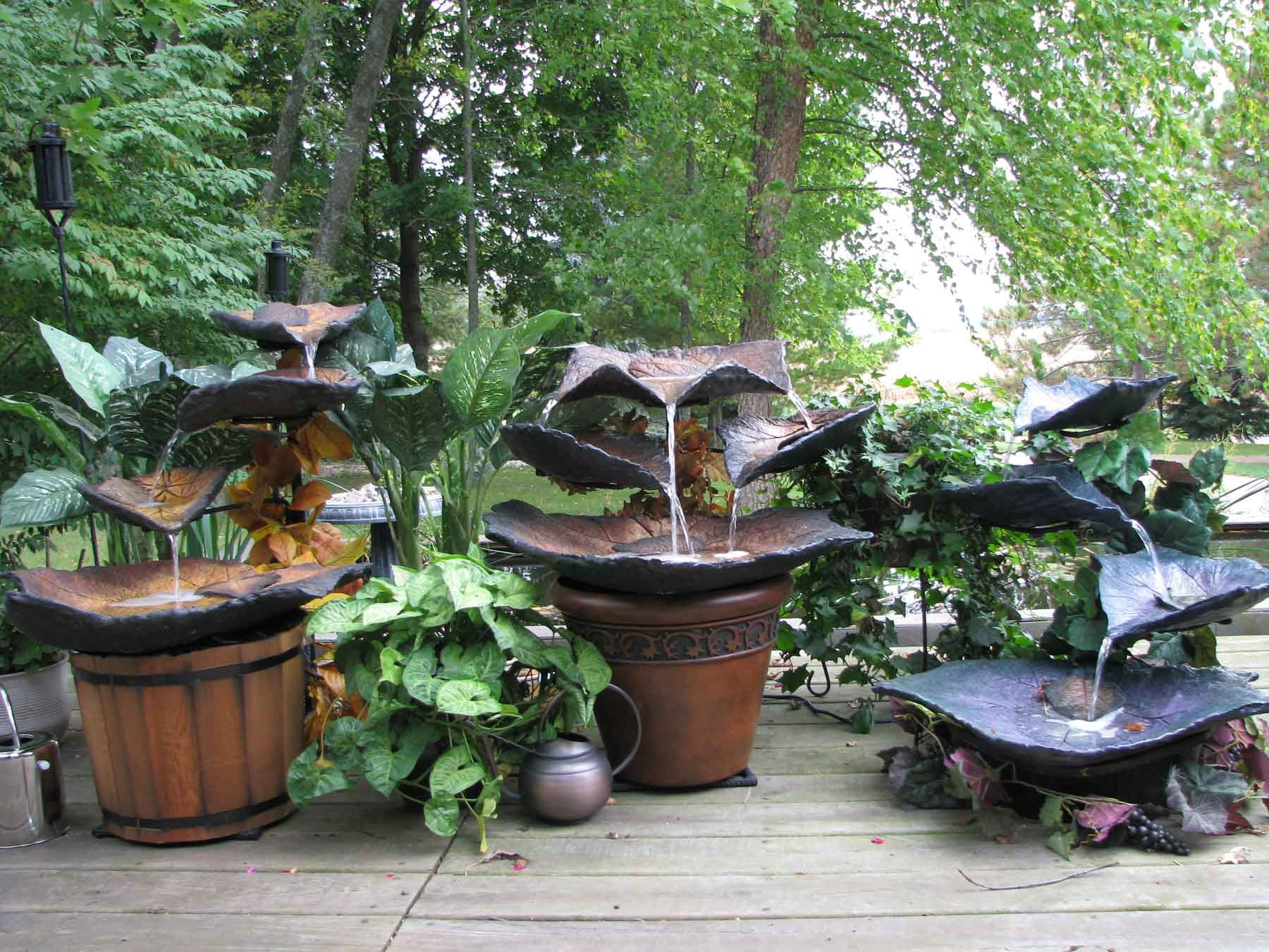 Concrete Leaf Fountain Garden Pinterest