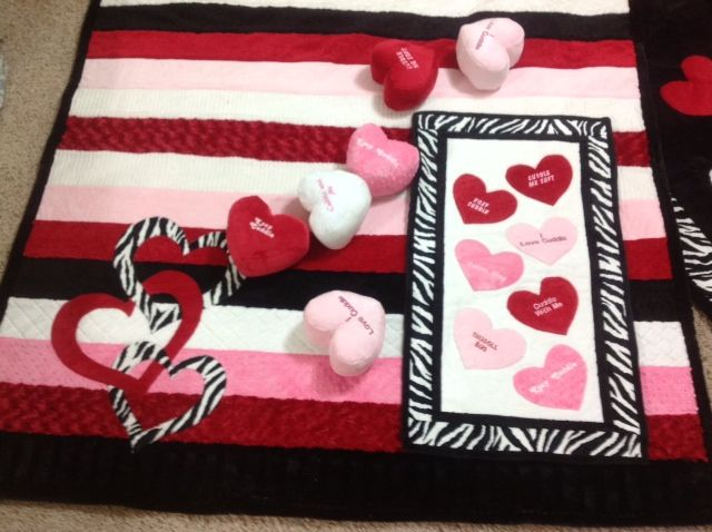 Happy valentines day! #cuddlefabric heart applique quilt heart