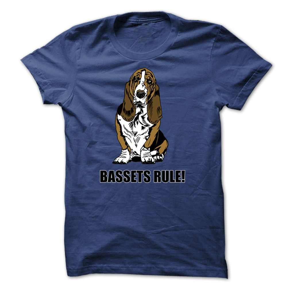 OMG I have to have this Bassets Rule! - A High Quality Design from Dog Lovers Today. Purchase it here http://www.albanyretro.com/bassets-rule-a-high-quality-design-from-dog-lovers-today/