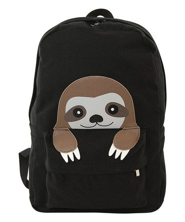 9c3e7ebcf10e Another great find on #zulily! Black Peeking Baby Sloth Backpack ...
