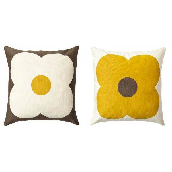 Orla Kiely Giant Abacus Flower Cushion Chocolate/Sunflower