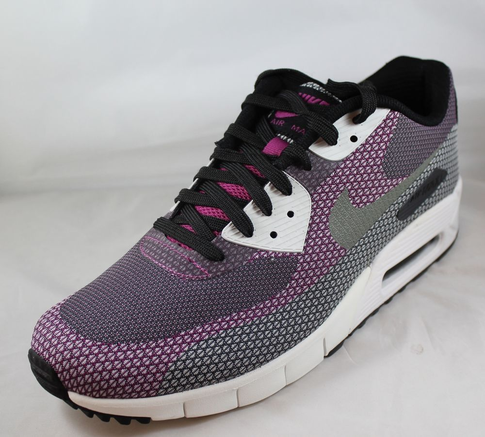 online store b6b7f 42bbb NIKE AIR MAX 90 JCRD Jacquard Mens Running Shoes 631750-001 Sz 10.5 Black  Purple