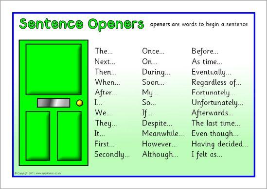 sentence openers word mat sb6204 sparklebox literacy sentence building recount writing. Black Bedroom Furniture Sets. Home Design Ideas