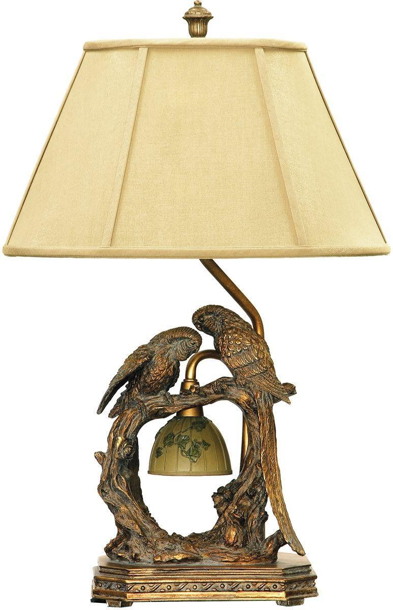 0 004859 25 H Twin Parrots 1 Light Table Lamp Atlanta Bronze Bronze Table Lamp Table Lamp Led Table Lamp