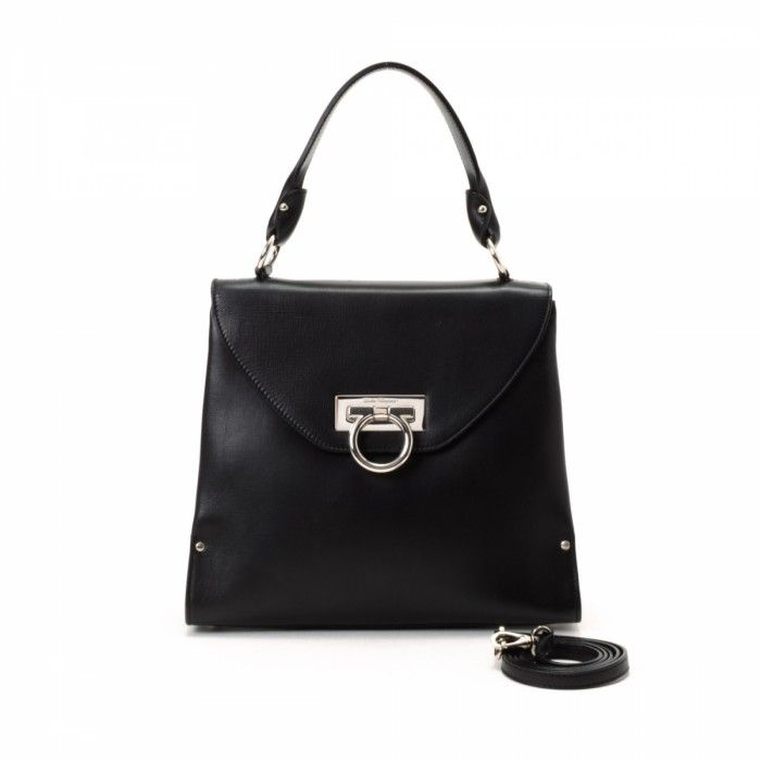 d86b0815c327 Get a  Ferragamo Two Way Bag Gancini Leather  Handbag at LXR CO for as low  as  895.00 - up to 22% off retail!