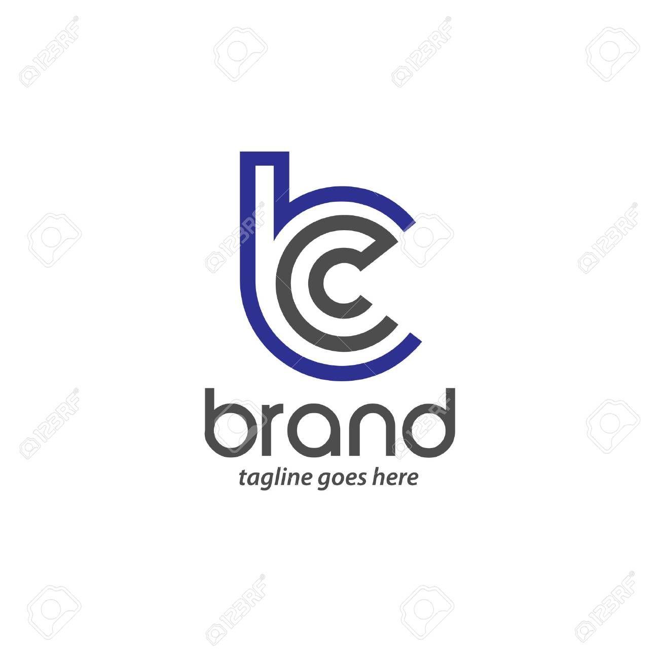 BC letter logo design vector illustration template, B