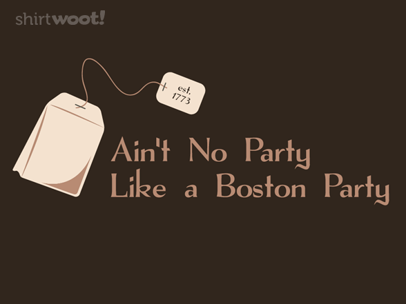 'Cuz a Boston party stops at midnight per the city's puritanical liquor laws.