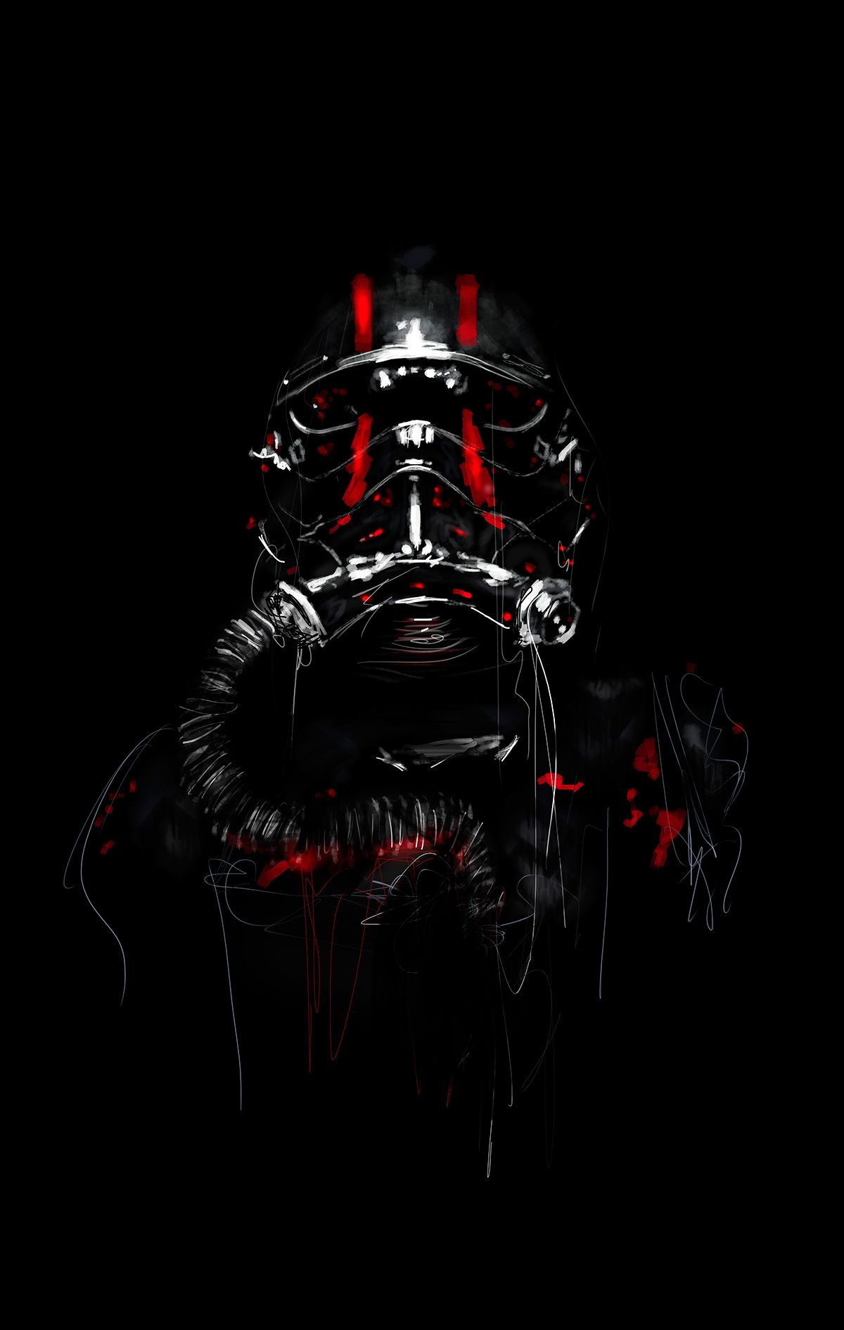 Star Wars Portraits On Behance Tiepilot Starwars Tiefighter Star Wars Poster Star Wars Images Star Wars Art