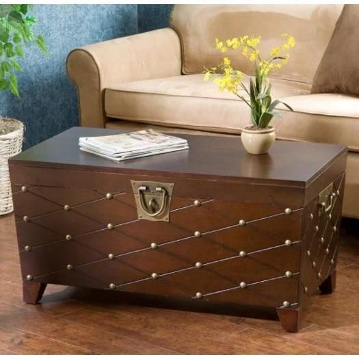 Cainhoe Nailhead Trunk Coffee Table Astoria Grand