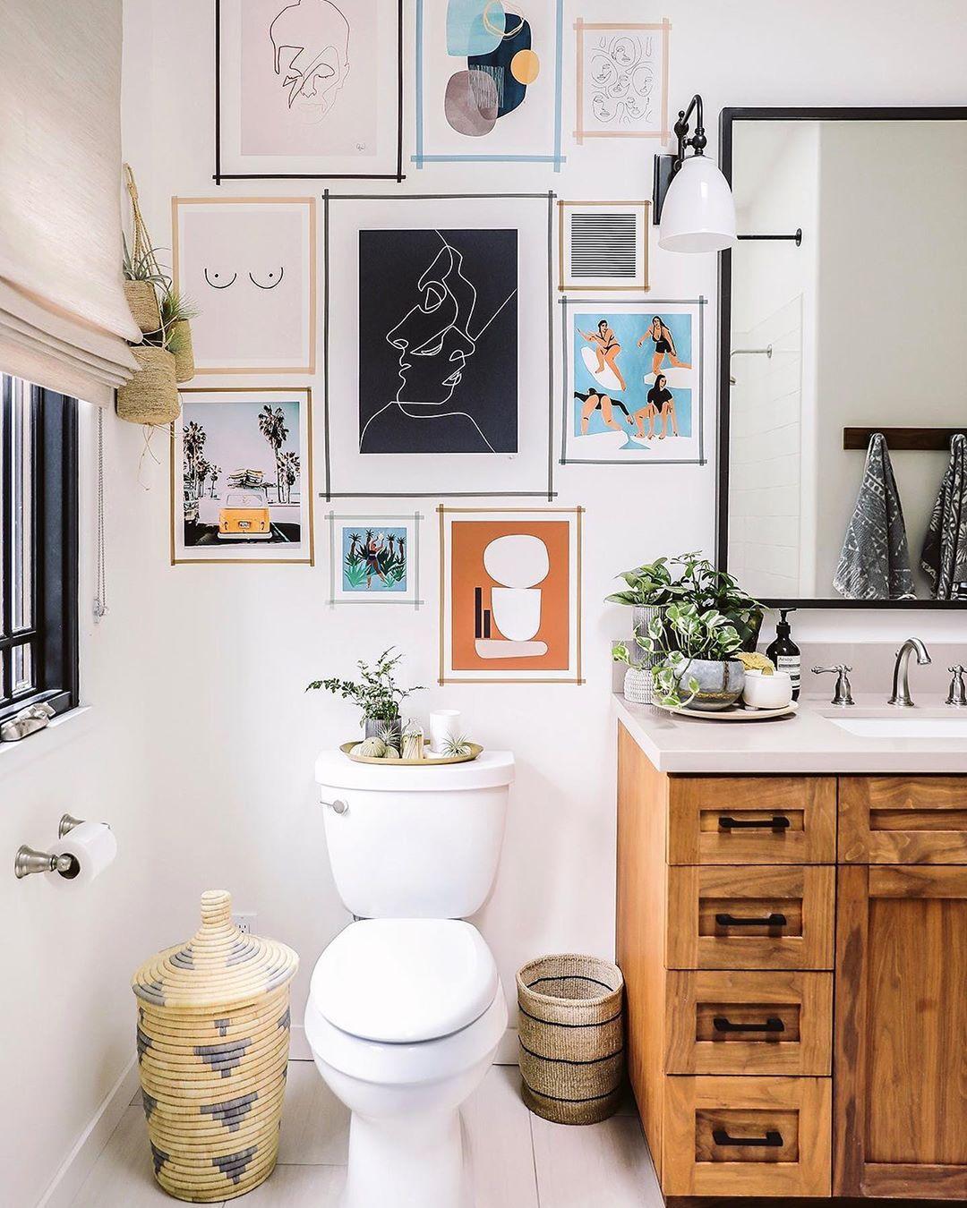 Grazia Uk On Instagram Is This Your Dream Bathroom Scenario We Ve Trawled Pinterest Fo Bathroom Wall Decor Bathroom Gallery Wall Bathroom Wall Decor Art