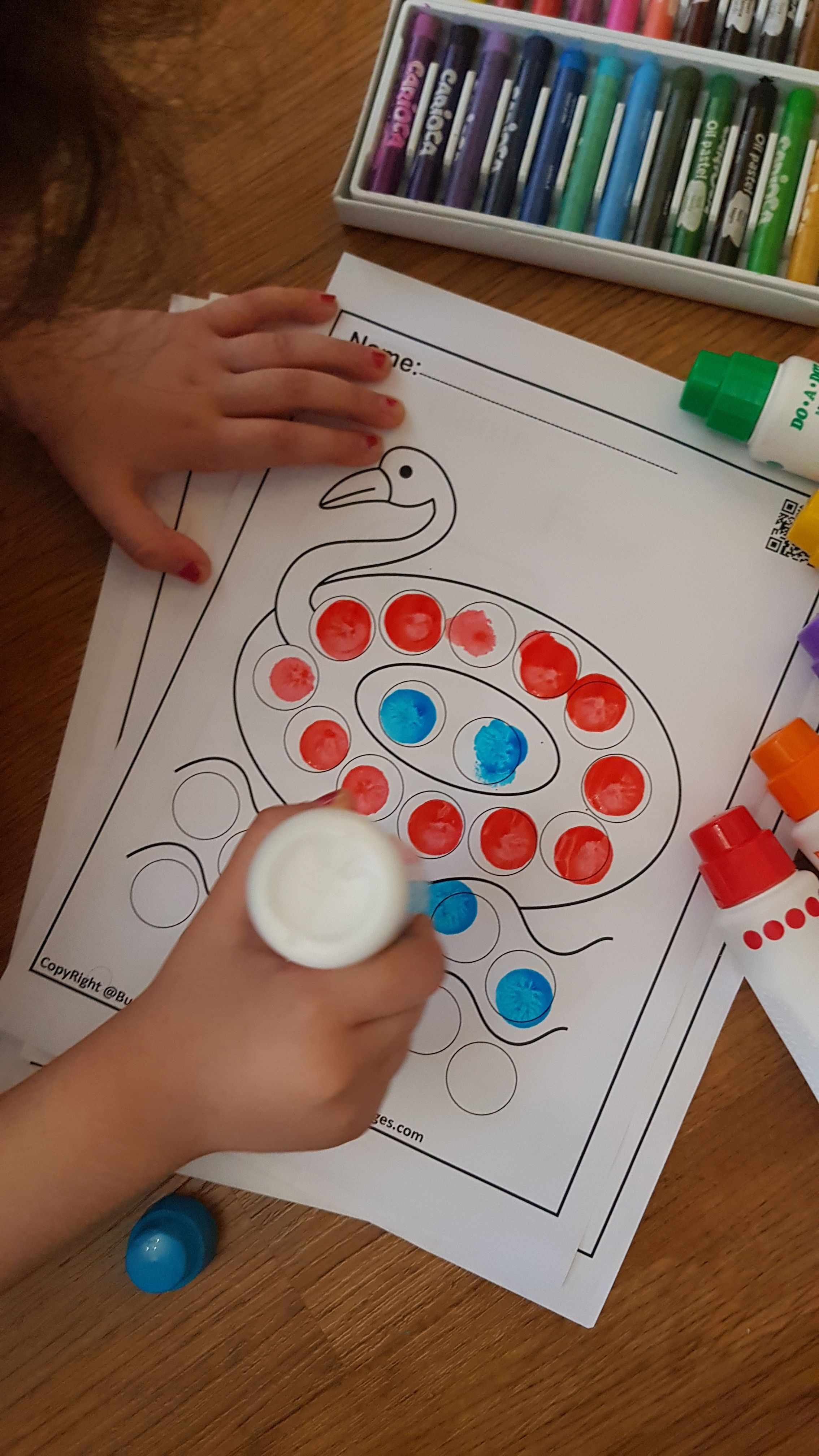 Summer Dot Markers Activity In