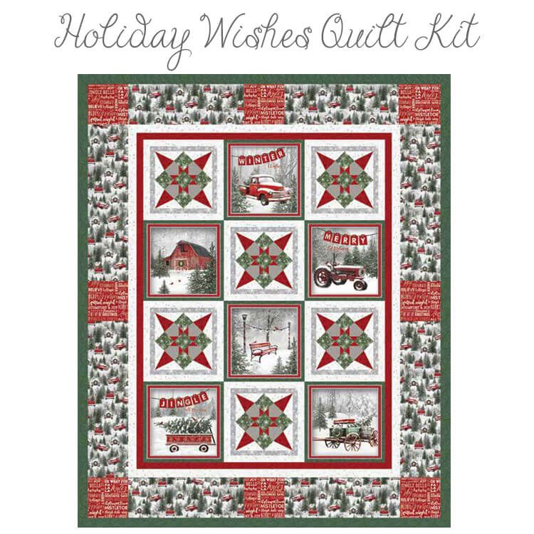Holiday Wishes Quilt Kit Henry Glass Panel Quilt Patterns Panel