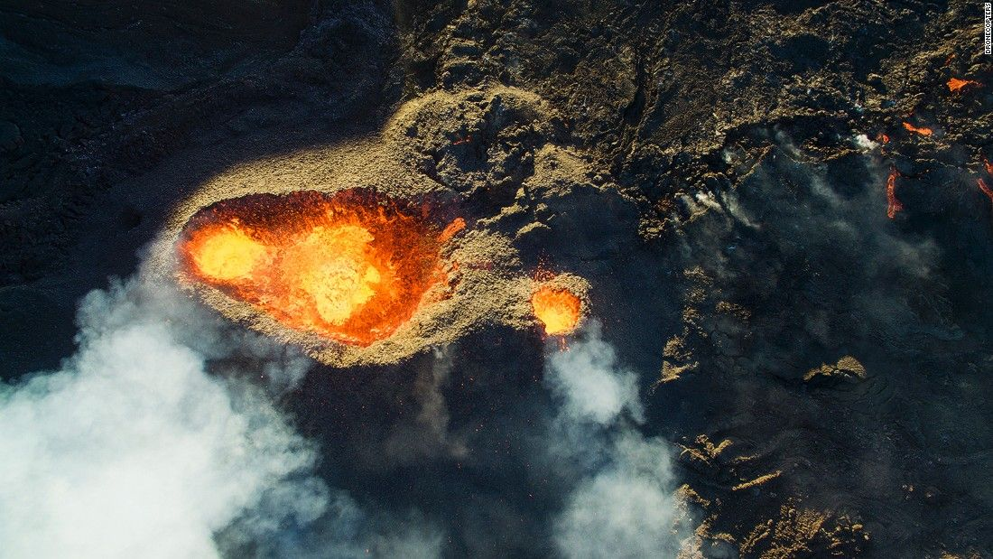 <strong>Piton de la Fournaise: </strong>This image by<strong> </strong>DroneCopters, shows Piton de la Fournaise, a volcano on the French island of Reunion in the Indian Ocean.