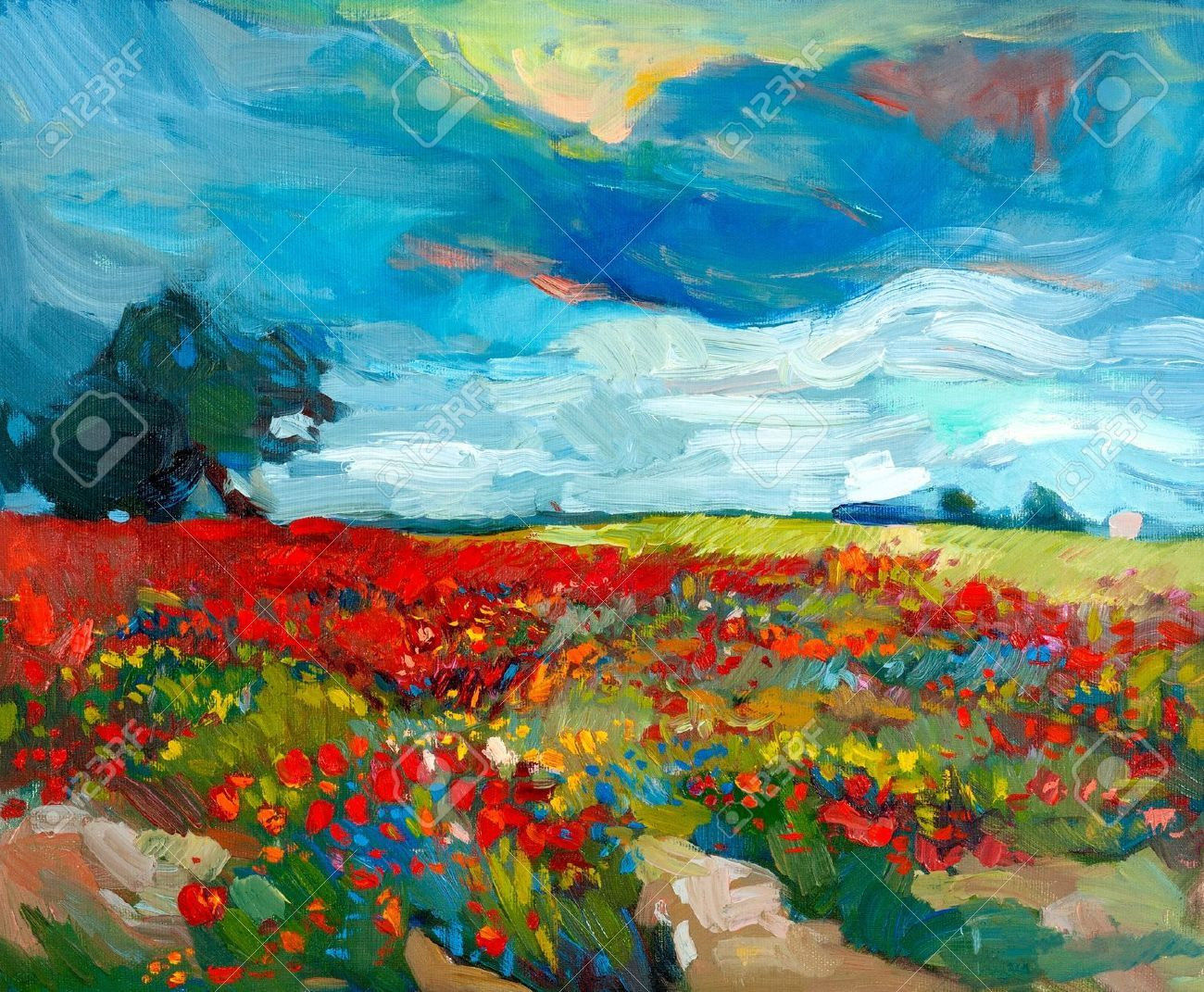 acrylic painting images stock