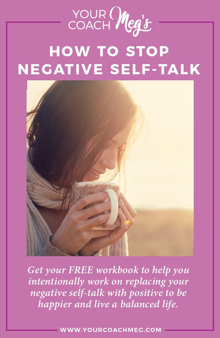 Workbooks workbook live : HOW TO STOP NEGATIVE SELF-TALK (with a FREE workbook!) | Positive ...